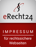eRecht24 Siegel für ein rechtssicheres Impressum